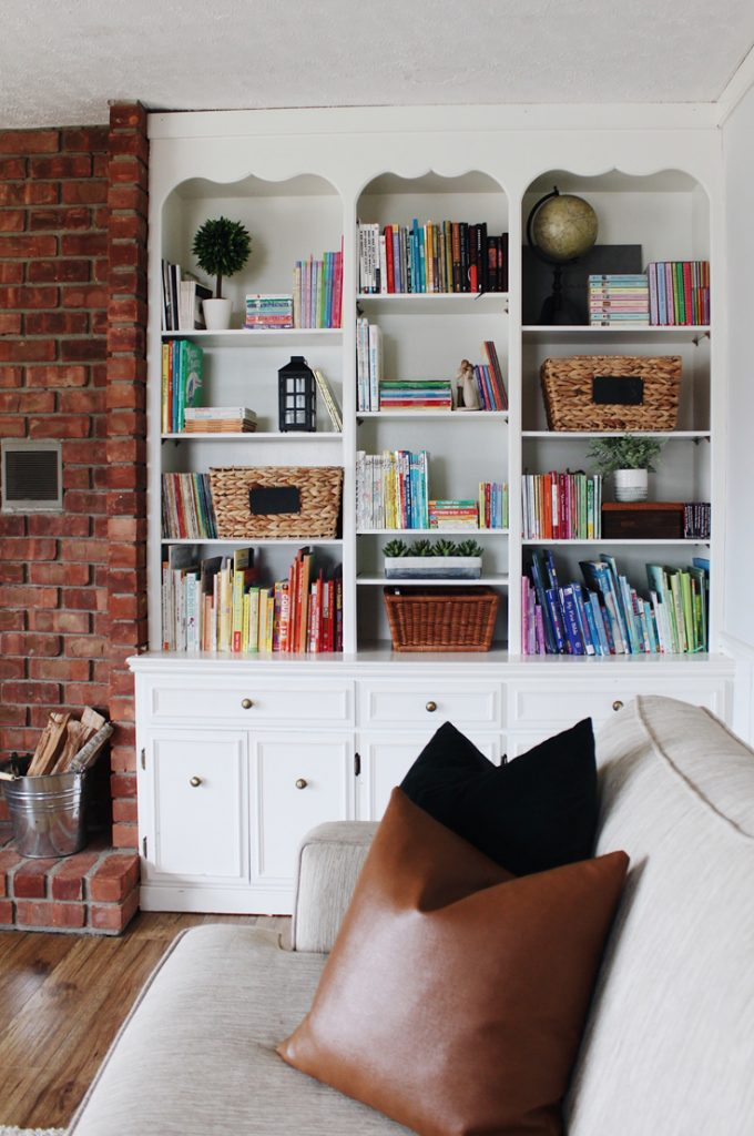 how to style a functional bookshelf