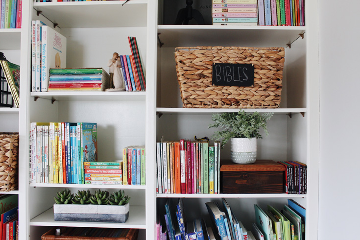 how to style a functional bookcase