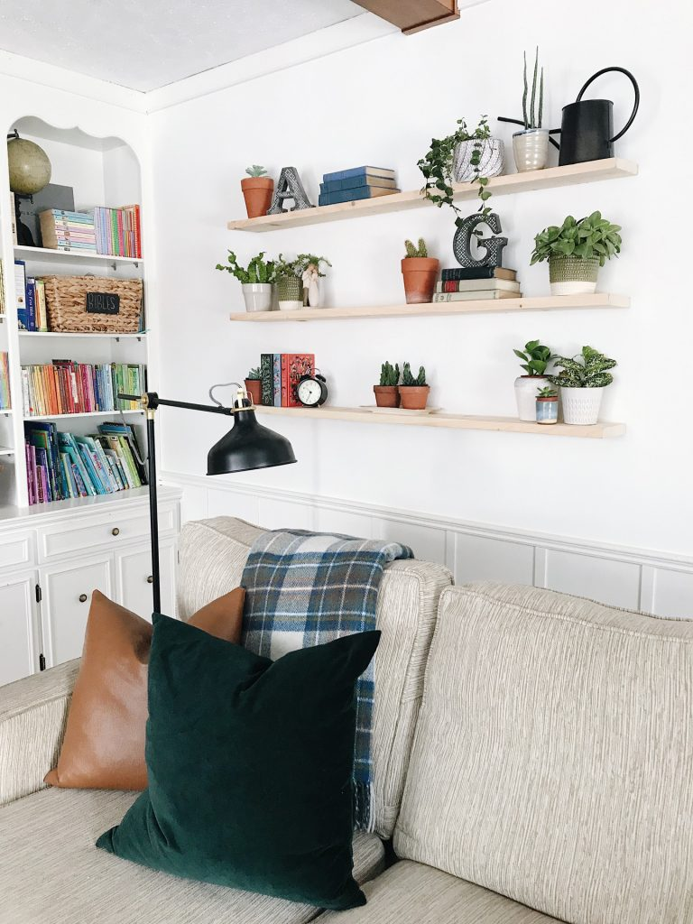 easy diy plant shelves without brackets