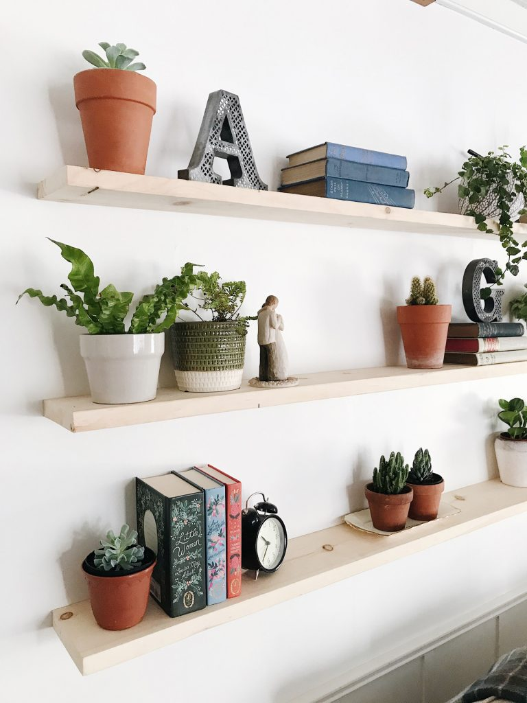 shelving without brackets