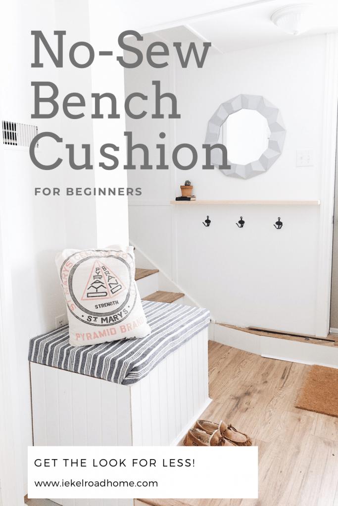 No-Sew Bench Cushion