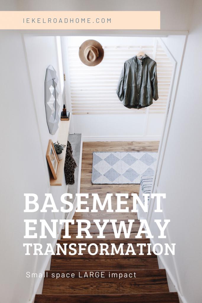 basement entryway transformation
