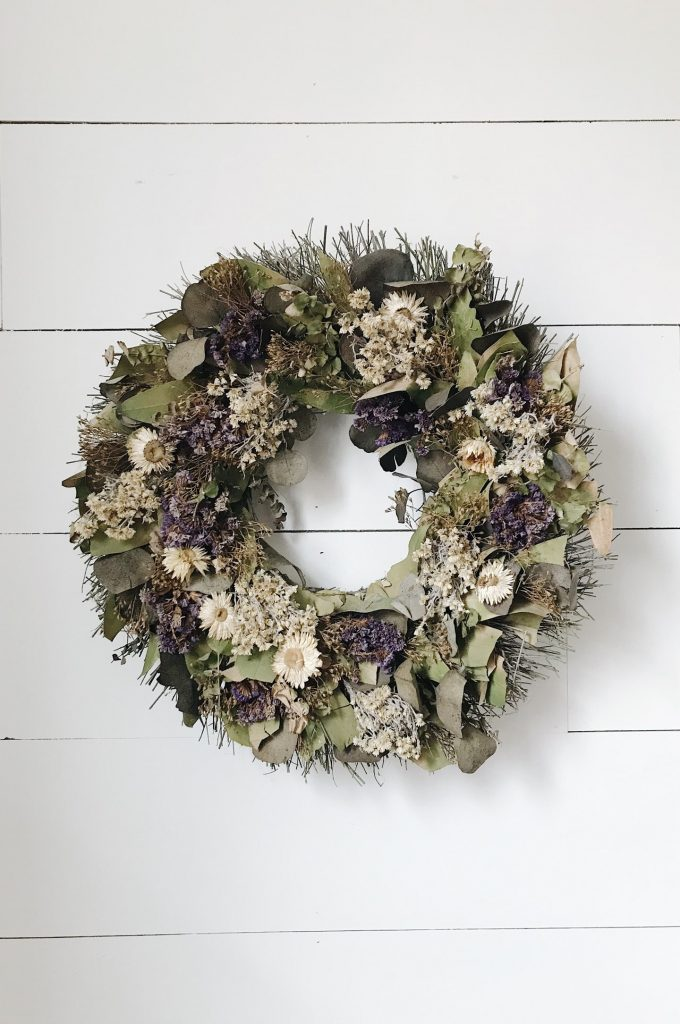 make an old wreath new again