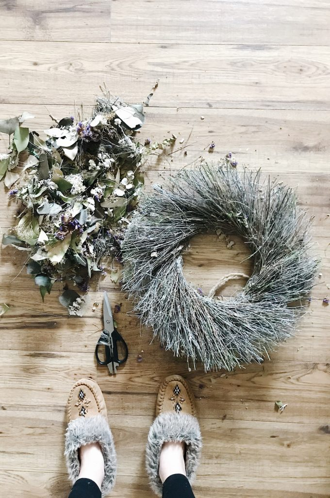 upcycle a wreath for a fresh look