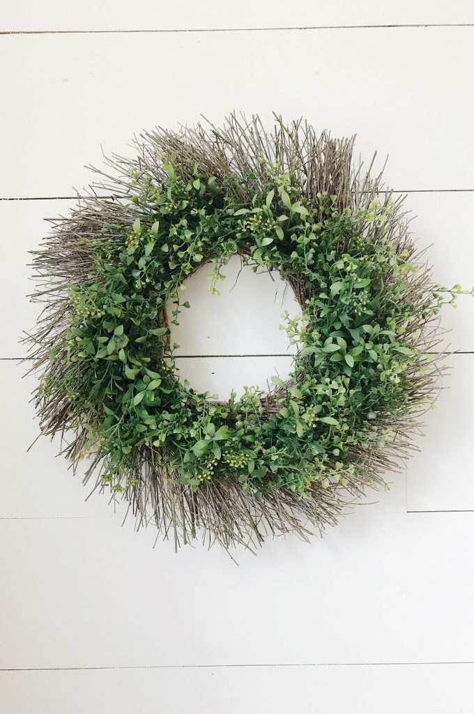 upcycle a wreath from things you have in your home