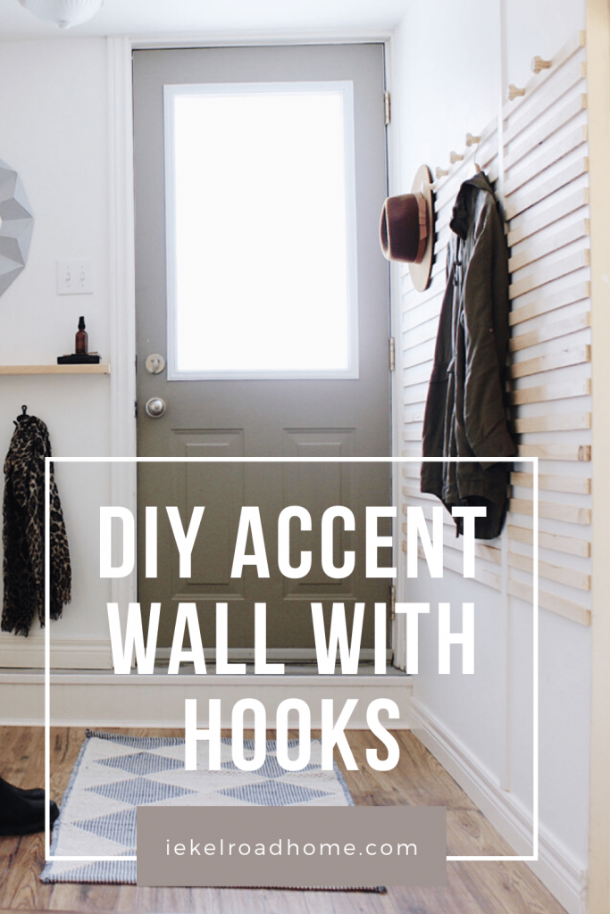 DIY Accent Wall With Hooks