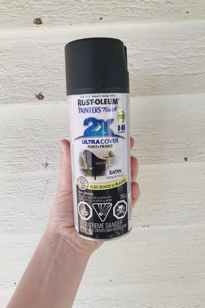 rust-oleum black spray paint