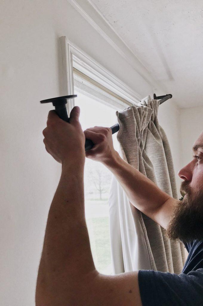 attaching curtain rod