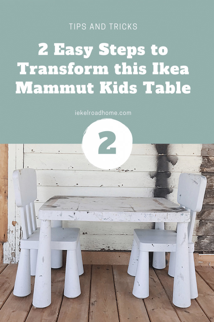 2 easy steps to transform this ikea mammut kids table