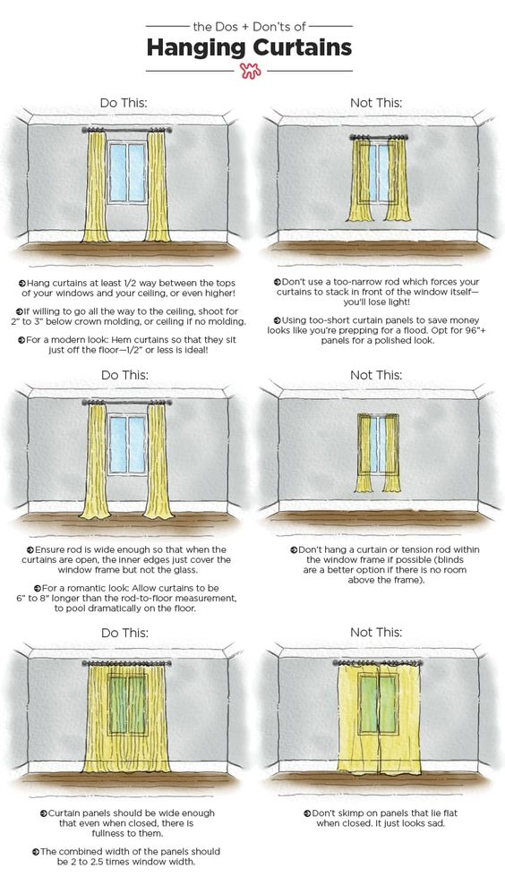 the dos and don'ts of hanging curtains