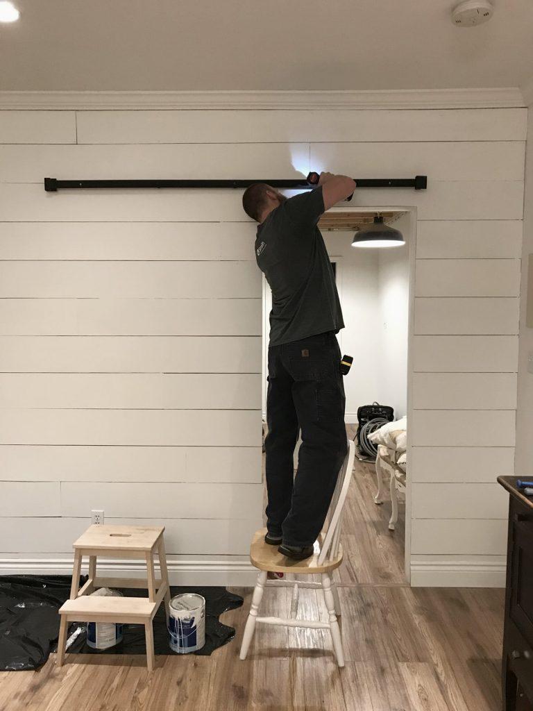 installing barn door track