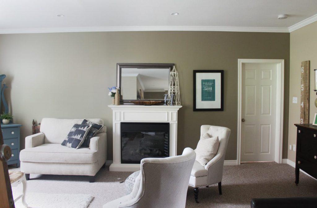 living room shot before barn door has been installed