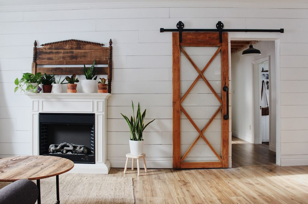 glass barn door without header