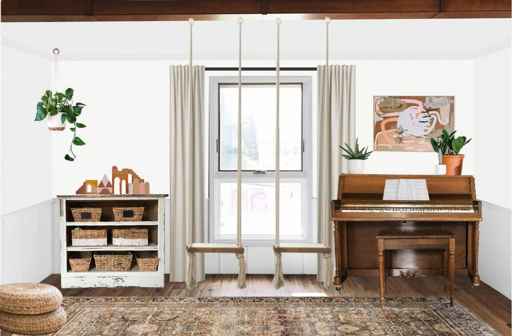 family and playroom combo e-design