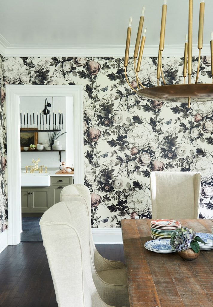 large print wallpaper for dining room