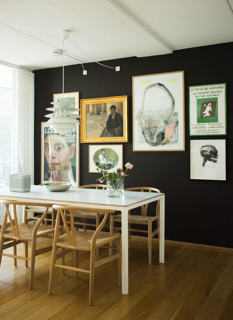 gallery wall ideas for the dining room