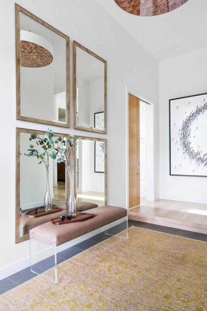mirror wall for dinning room idea