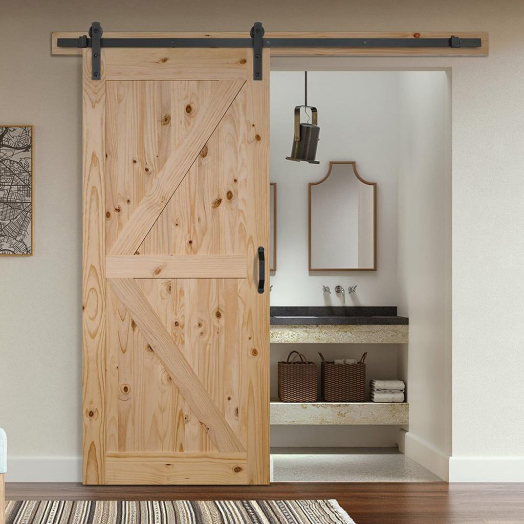 barn door from Home Despot with header