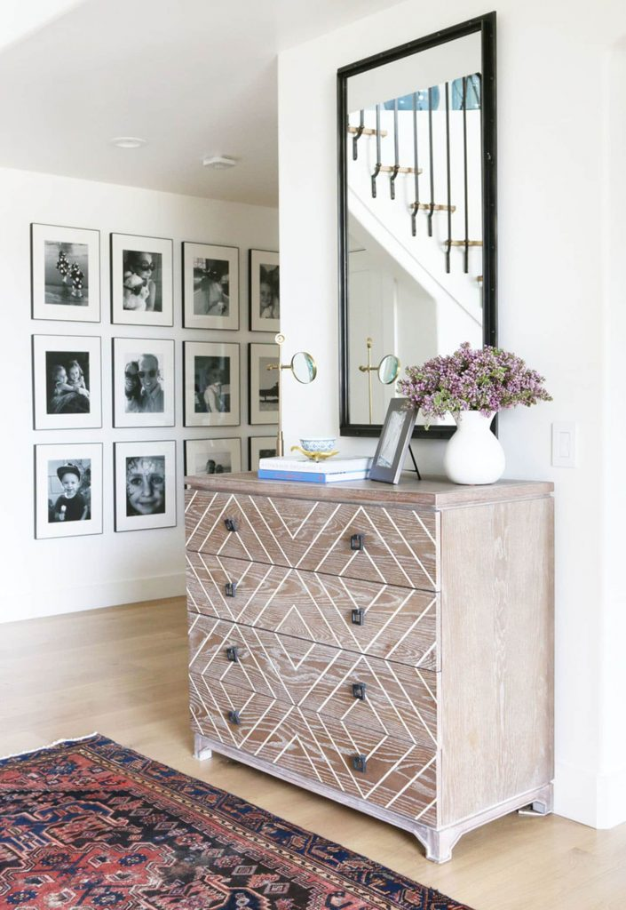 large simetrical gallery wall for blank wall