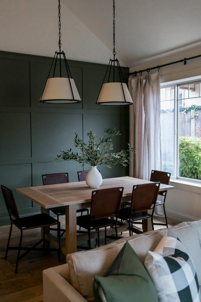 feature wall idea for dining room