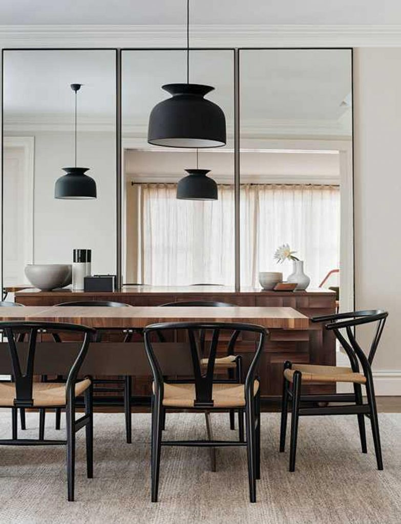 mirror wall idea for the dining room