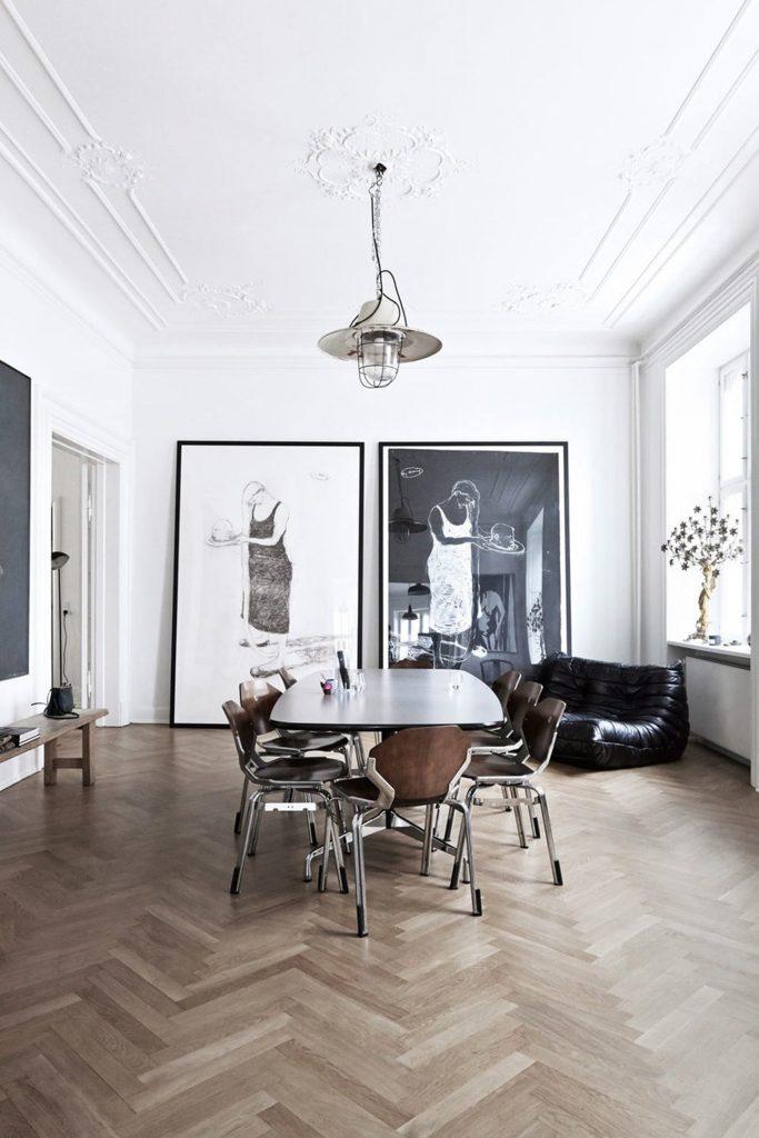 large artwork for dining room