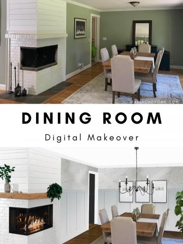 dining room digital makeover