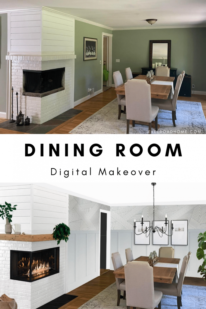 dining room digital makeover image for pinterest