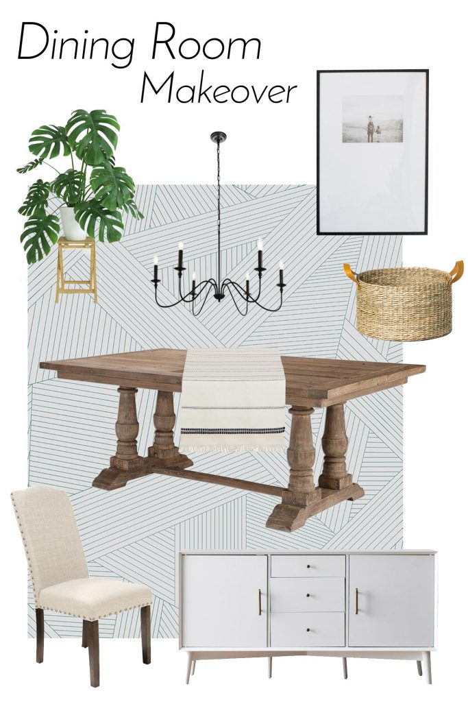 dining room makeover desing board