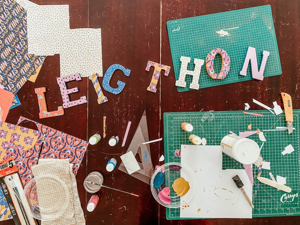 creating DIY wall letters