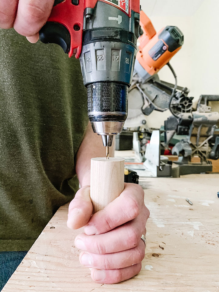pre drilling end of dowel