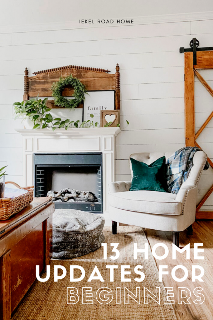 updates beginners can make to their home pinterest image