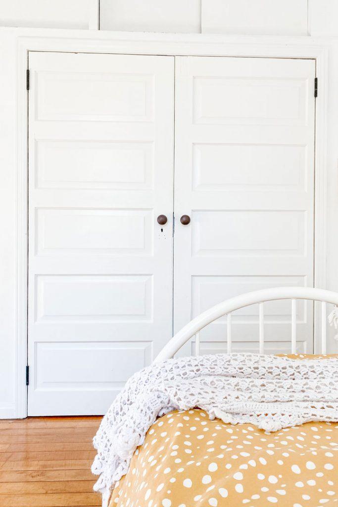 salvaged doors for closet bedroom