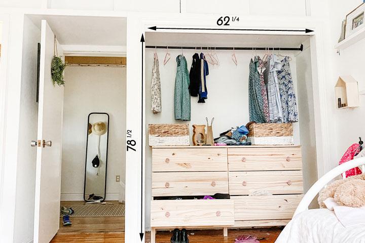 measuring closet opening for closet doors