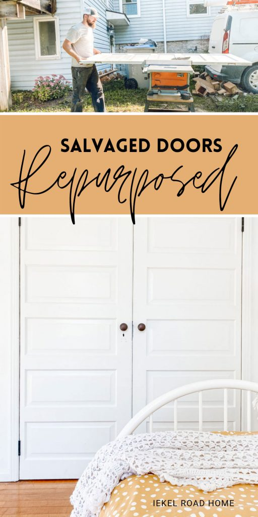 salvaged doors repurposed image for pinterest