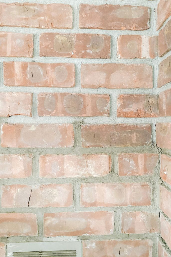 mortar a brick fireplace before and after