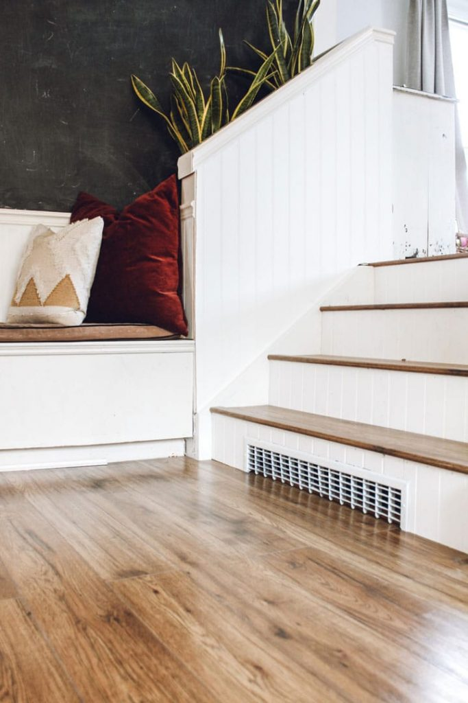 completed diy staircase makeover