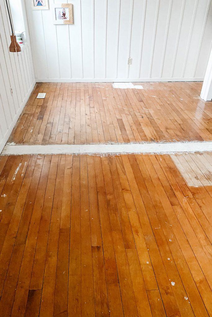 hardwood floors in rough shape