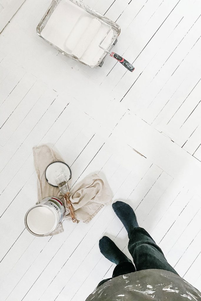 painting supplies needed for painted hardwood floors
