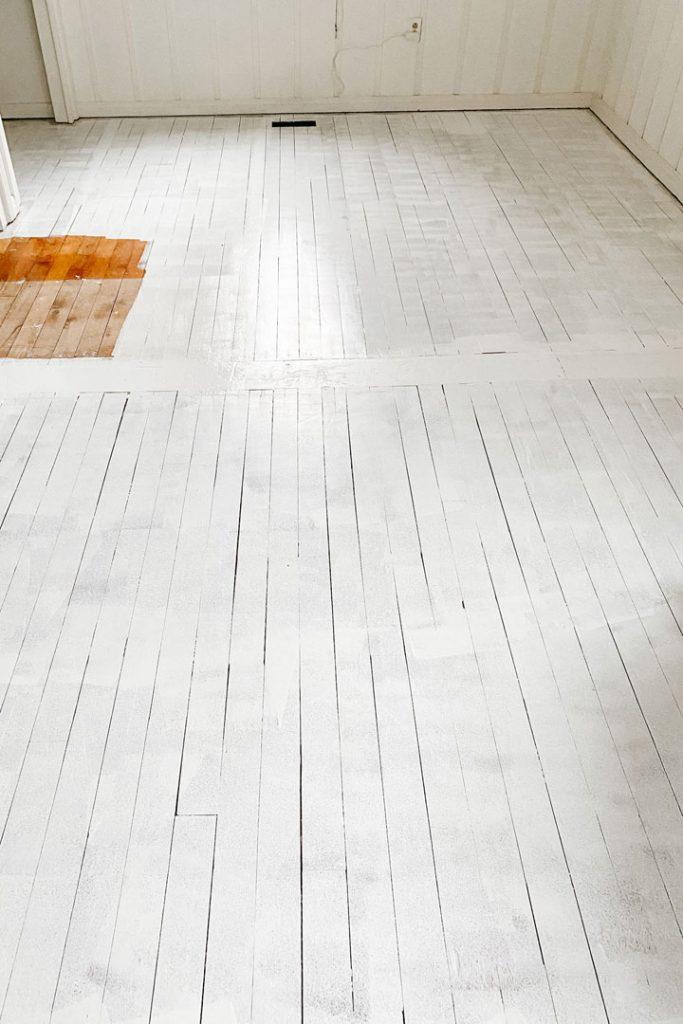 primed painted hardwood floors