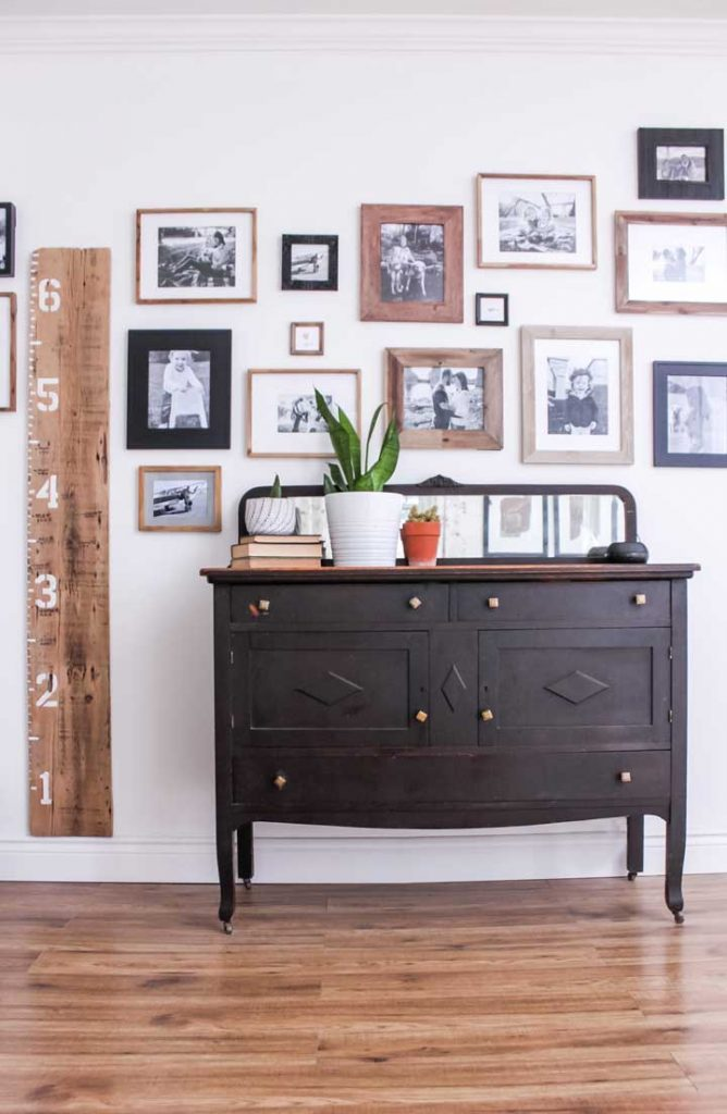 no linen closet, no problem, use a side board of buffet  to store all your linens