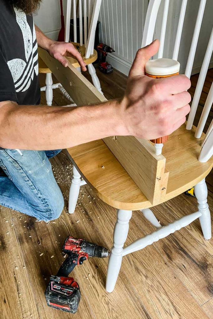 Adding a shelf to a peg rail for plants and decor