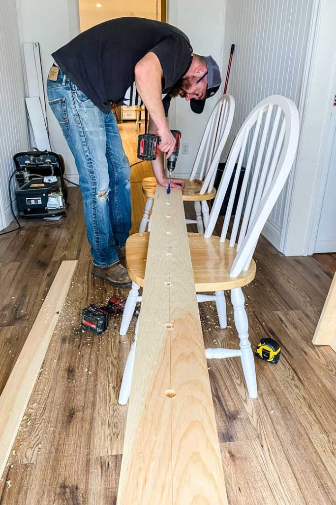 Building a custom peg rail with shelf for front entryway