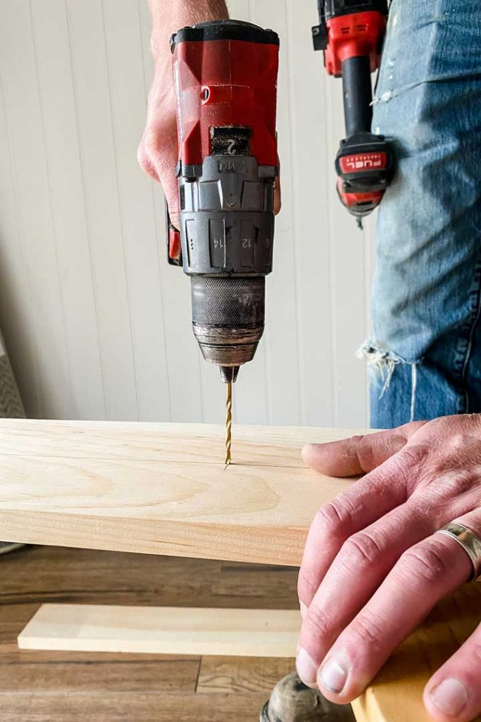 prill drill pine board to prevent wood from spliting